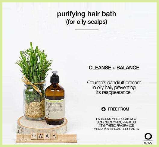 Purifying Hair Bath for oily scalps